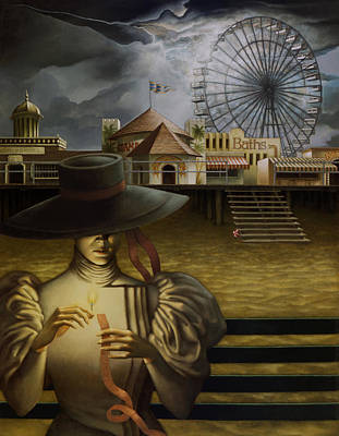 Boardwalk Painting - Ticket To Ride by Jane Whiting Chrzanoska