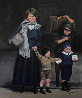 Painting - Ticket Trouble On Ellis Island by Sandra Nardone