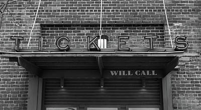 Bosox Photograph - Ticket Will Call Window At Fenway Park by Bill Dussault