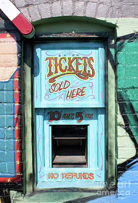 Photograph - Ticket Window For Show Tickets by Colin Cuthbert