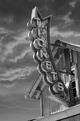 Art Print featuring the photograph Tickets Bw by Laura Fasulo