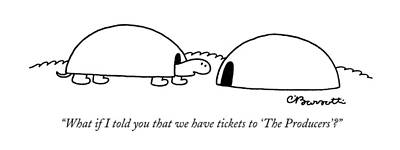 Drawing - Tickets To The Producers by Charles Barsotti