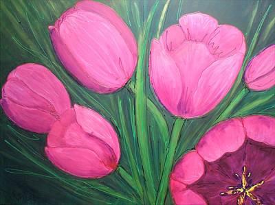Painting - Tickled Pink by LaBadie