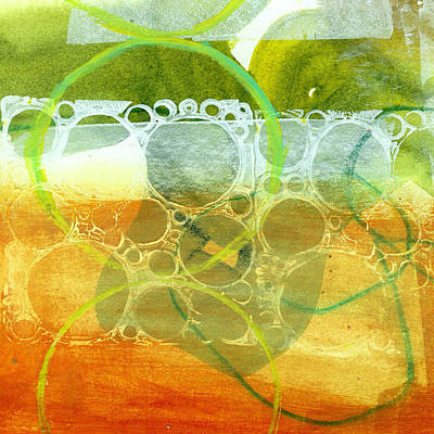 Grid Painting - Tidal 13 by Jane Davies