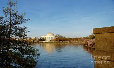 Washington Photograph - Tidal Basin And Jefferson Memorial by Megan Cohen
