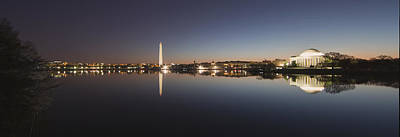 Tidal Basin At Night Art Print