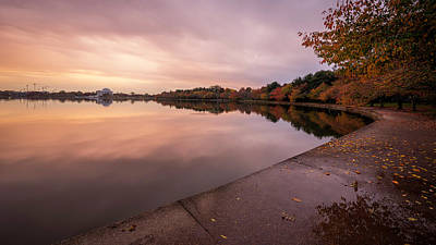 Photograph - Tidal Basin In Fall 2 by Michael Donahue