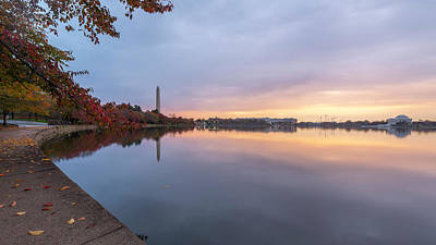 Photograph - Tidal Basin In Fall 3 by Michael Donahue
