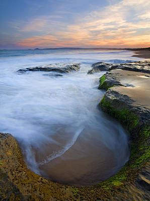 Tidal Bowl Print by Mike  Dawson