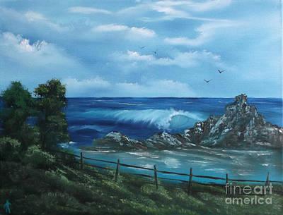 Incoming Tide Painting - Tidal Eye by Cynthia Adams