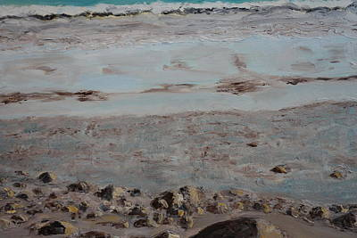 Rocks. Tidal Pool Painting - Tidal Flow . by Rauno  Joks