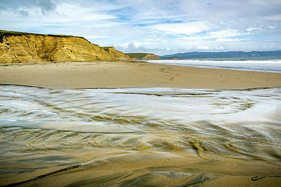 Photograph - Tidal Flows At Drake Beach In Point Reyes by Joe Doherty