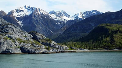 Photograph - Tidal Inlet  Glacier Bay by Judy Wanamaker