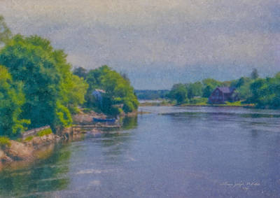 Tidal Inlet In Southern Maine Art Print
