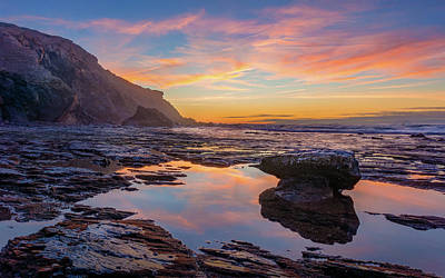 Photograph - Tidal Pool At Sunset by Dmytro Korol