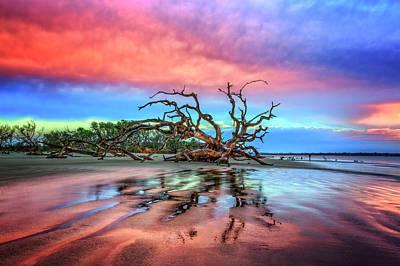Photograph - Tidal Pools At Dawn by Debra and Dave Vanderlaan