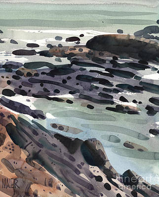 Painting - Tidal Pools by Donald Maier