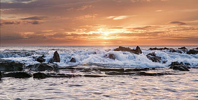 Art Print featuring the photograph Tidal Sunset by Heather Applegate