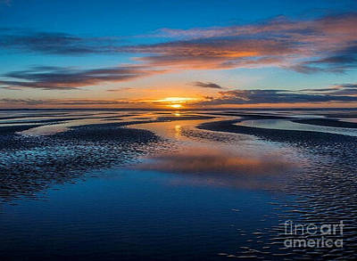 Photograph - Tidal Sunset by Rod Jellison