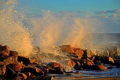 Photograph - Tidal Surge - Cape Cod Bay by Dianne Cowen