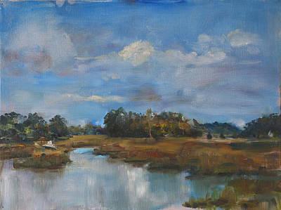 Salt Air Painting - Tidal View by Ann Bailey