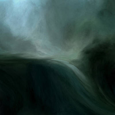 Deep Mixed Media - Tidal Wave by Lonnie Christopher