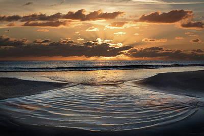Photograph - Tidal Waves At Dawn by Debra and Dave Vanderlaan