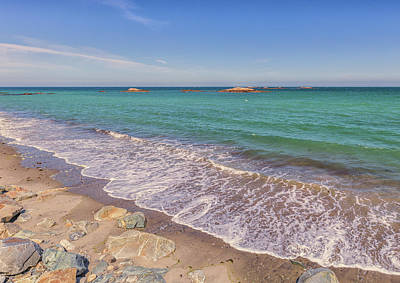 Photograph - Tide Change At Minot Beach In Scituate Massachusetts by Brian MacLean
