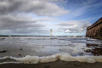 Photograph - Tide Coming In At Fort Perch Lighthouse by Spikey Mouse Photography