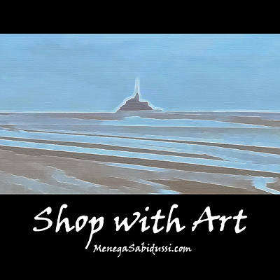 Painting - Tide In The Bay Of Mont Saint Michel - Shop With Art by Menega Sabidussi