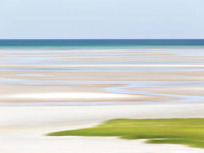 Abstract Beach Landscape Photograph - Tide Lines by Katherine Gendreau