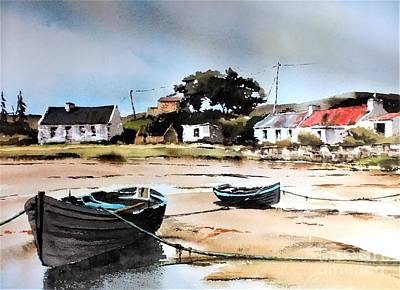 Painting - Tide Out In Erlak Roundstone Galway by Val Byrne