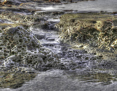 Tide Pool Waterfall Art Print