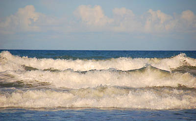 Splashing In The Tide Photograph - Tide Rolling To The Shores by Susanne Van Hulst