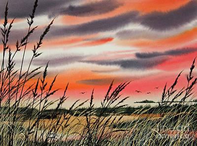 Tideland Sunset Art Print by James Williamson