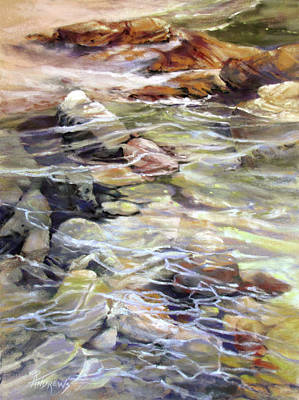 Painting - Tidepool Interrupted by Rae Andrews