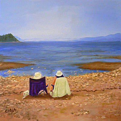 Sandbar Painting - Tide's Out by Carla Stein