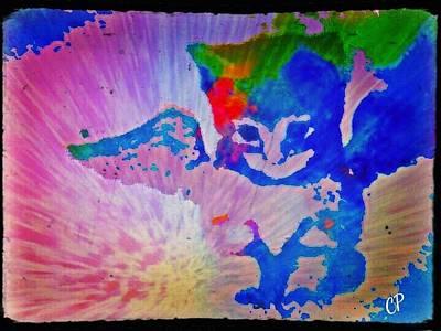 Tie Dye Tiger Art Print