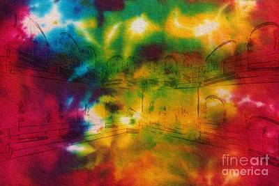 Tie-dyed Intermezzo Dream Art Print