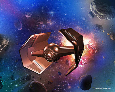 Photograph - Tie-fighter by Mickey Clausen