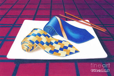 Wall Art - Painting - Tie Food by Tracy Farrand