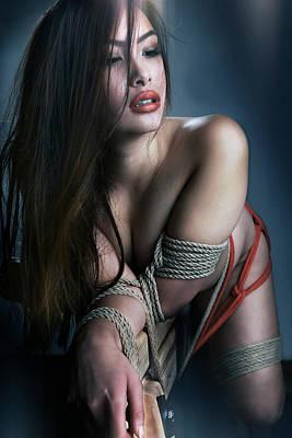 Bondage Photograph - Tied Asian Girl V2 by Rod Meier
