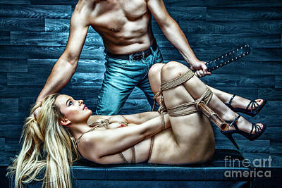 Photograph - Tied Girl, Punished By Master - Fine Art Of Bondage by Rod Meier