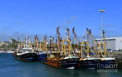 Tied Up At Kilmore Quay - Wexford Art Print