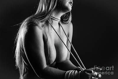 Photograph - Tied Up  by Erotic Art