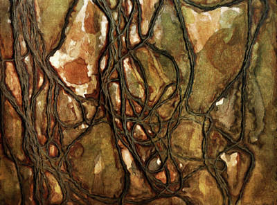 Fibre Art Digital Art - Tied Up In Knots Abstract by Georgiana Romanovna
