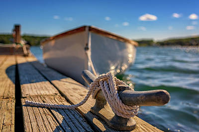 Photograph - Tied Up In Southwest Harbor by Rick Berk