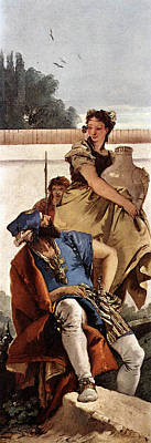Digital Art - Tiepolo A Seated Man And A Girl With A Pitcher by Giovanni Battista Tiepolo