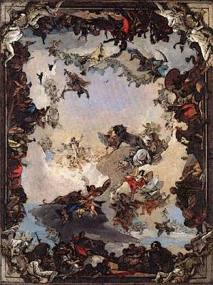Digital Art - Tiepolo Allegory Of The Planets And Continents by Giovanni Battista Tiepolo