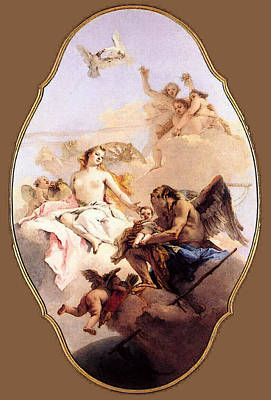 Digital Art - Tiepolo An Allegory With Venus And Time by Giovanni Battista Tiepolo